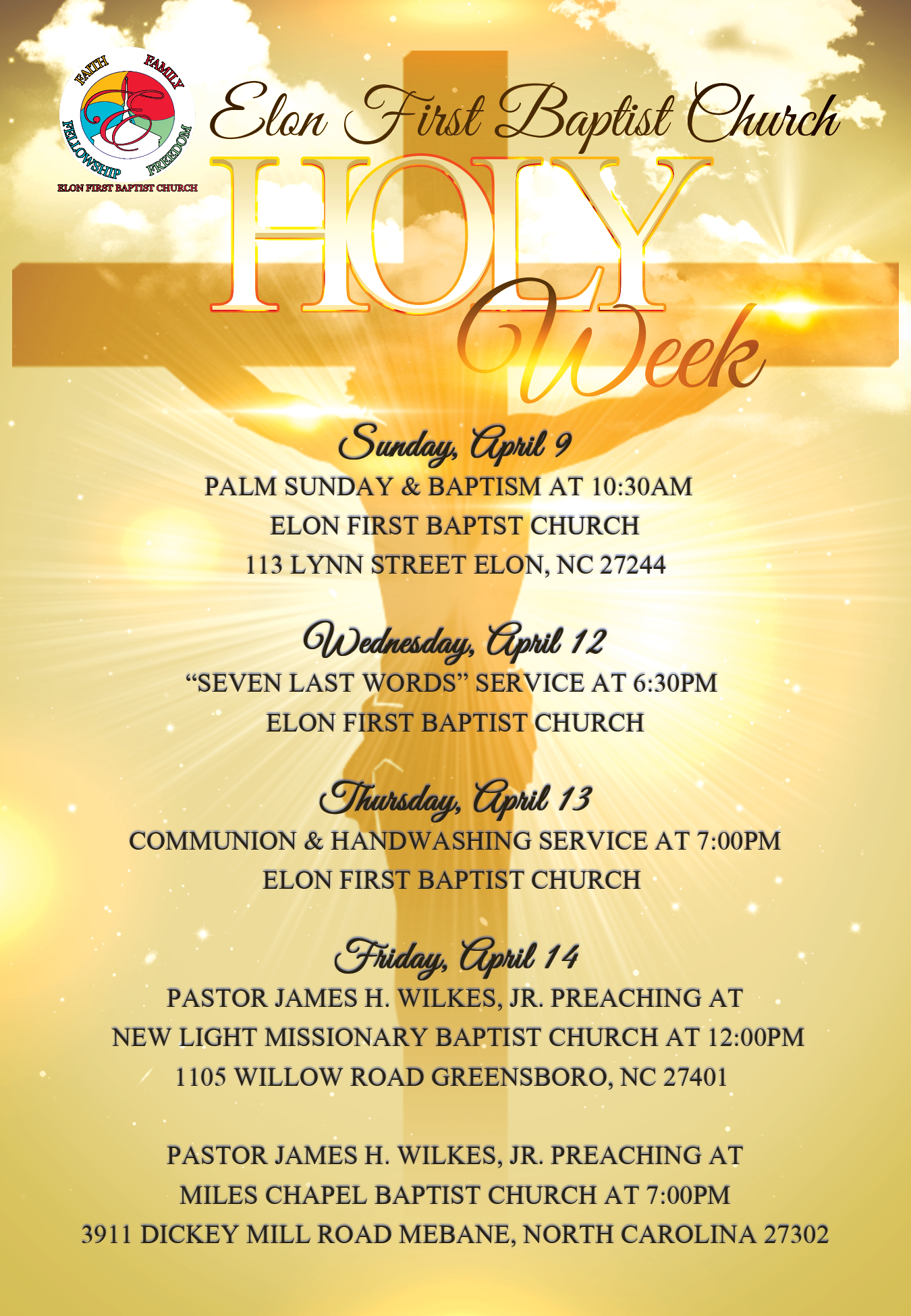 Welcome to Elon First Baptist Church – The official ...